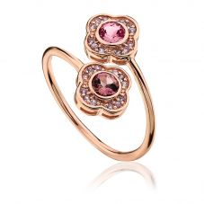Clogau 9ct Rose Gold Jewel Bloom Ring MGR P