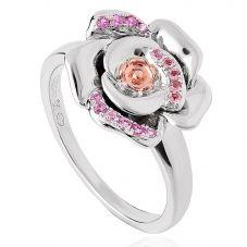 Clogau Silver Twilight Rose Pink Sapphire Ring 3SRTWR/M