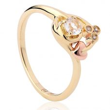 Clogau 9ct Gold Topaz Tree Of Life Origin Ring ENGTOL6/O