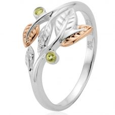 Clogau Silver 9ct Rose Gold Peridot Awelon Ring 3SAR02