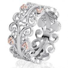 Clogau Silver 9ct Rose Gold Kensington Ring 3SKR