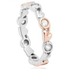 Clogau Silver 9ct Rose Gold Tree Of Life Ring 3STOLEDR
