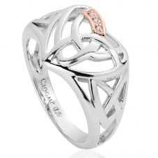 Clogau Silver Diamond Eternal Love Heart Ring 3SELHR