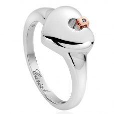 Clogau Silver Cariad Heart Ring 3SCAHR