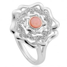 Clogau Silver 9ct Rose Gold Tudor Rose Ring 3STRSR