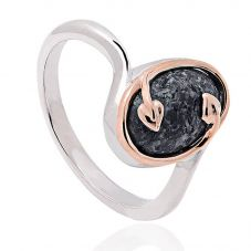 Clogau Silver Heart Of Wales Ring 3STLPBR