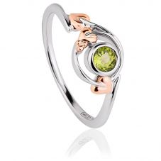 Clogau Tree Of Life Peridot Love Vine Ring 3SLVNR