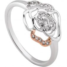 Clogau Silver 9ct Rose Gold Royal Roses Topaz Ring 3SRORR3
