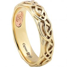 Clogau 9ct Gold 9ct Rose Gold Annwyl Celtic 5mm Ring CWED5/S
