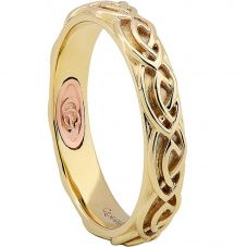Clogau 9ct Two Colour Gold Annwyl Celtic 4mm Ring CWED4/O