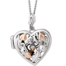 Clogau Royal Clogau Oak Open Heart Locket Necklace 3SRCOL
