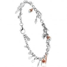 Clogau Silver 9ct Rose Gold Royal Clogau Oak Bracelet 3SOBR