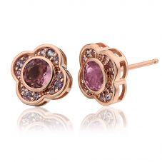 Clogau 9ct Gold Jewel Bloom Stud Earrings MGE