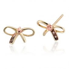 Clogau Tree Of Life Bow Stud Earrings TOLBE