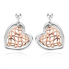 Clogau Welsh Royalty Heart Earrings 3SWHHE2