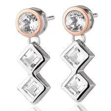 Clogau Welsh Royalty Anniversary White Topaz Earrings 3SQAE