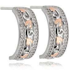 Clogau Tree Of Life Half Hoop Earrings 3STLBWE