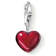 THOMAS SABO Silver Red Enamel Heart Charm 0794-007-10