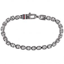 Tommy Hilfiger Stainless Steel Oxidised Box Chain Bracelet 2790031