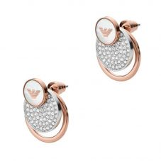 Emporio Armani Signature Crystal Circle Earrings EGS2364040
