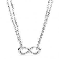 Fossil Classics Silver Knot Necklace JF02866040