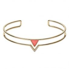 Fossil Fashion Gold Plated Coral Triangle Bangle JF02921710