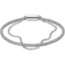 Fossil Iconic Stainless Steel Mesh Double Bracelet JF03023040