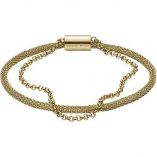 Fossil Iconic Gold Plated Mesh Double Bracelet JF03022710