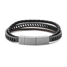 Fossil Mens Vintage Casual Brown Leather Bracelet Jf02828040