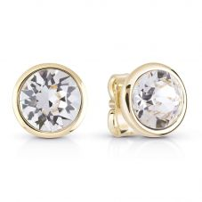 Guess Miami Gold Plated Stud Earrings UBE83051
