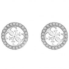 Guess Tropical Sun Crystal Stud Earrings UBE78004
