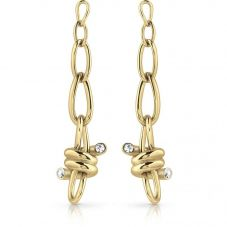 Guess Love Wire Gold Plated Dropper Earrings UBE29016