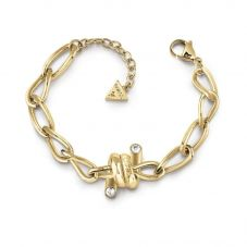 Guess Love Wire Gold Plated Chain Bracelet UBB29025-L
