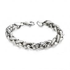 Fred Bennett Stainless Steel Plaited Chain Bracelet B5057