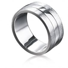 Fred Bennett Sterling Silver Scratched Finish Ring R2621