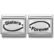 Nomination CLASSIC Silvershine Sisters Forever Inifinity Bundle 330109/22+330109/23