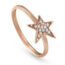 Nomination Stella Rose Gold Plated One Star Ring 146700/011