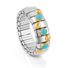 Nomination Extension 3 Turquoise 18ct Gold Ring 044600/003