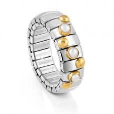 Nomination Extension 3 White Pearl 18ct Gold Ring 044600/007