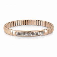 Nomination Extension Rose Gold White Crystal Bracelet 043213/010