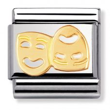Nomination CLASSIC Gold Daily Life Masks Charm 030110/01