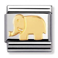 Nomination CLASSIC Gold Animals of Earth Elephant Charm 030112/08