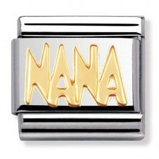 Nomination CLASSIC Gold Writings Nana Charm 030107/09