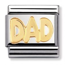 Nomination CLASSIC Gold Writings Dad Charm 030107/11
