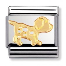 Nomination CLASSIC Gold Animals of Earth Dog Charm 030112/23