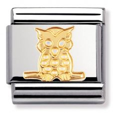 Nomination CLASSIC Gold Animals of the Air Owl Charm 030114/06