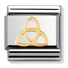 Nomination CLASSIC Gold Celtic Trinity Knot Charm 030119/04