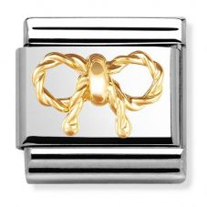 Nomination CLASSIC Gold Elegance Relief Bow Charm 030154/03