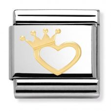 Nomination CLASSIC Gold Love Heart With Crown Charm 030116/17