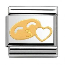 Nomination CLASSIC Gold Valentine Smile With Heart Charm 030161/06